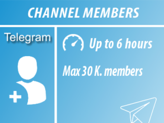 Telegram - Channel Members | Min 100 Max 30k | FAST