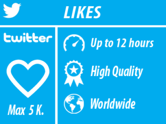 Twitter - Likes | Worldwide | High Quality Min 50 max 5k