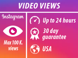 Instagram - Video Views | Min 100 Max 100k | USA | INSTANT