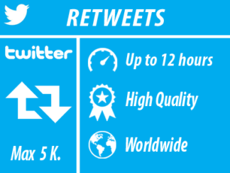 Twitter - Retweets | Worldwide | High Quality Min 50 Max 5k