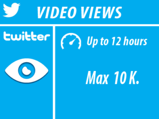 Twitter - Video Views Min100 Max 10K
