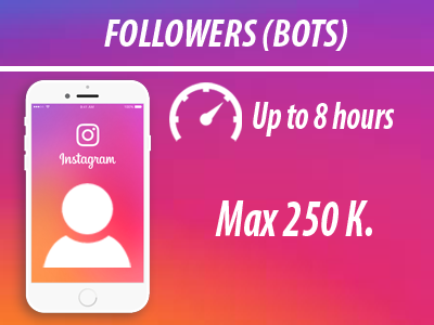 instagram - Followers | Min 100 Max 250k | No Refill